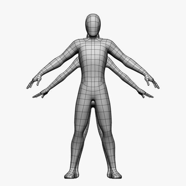 Blender Character Modeling Guide : Female male d model low poly base mesh