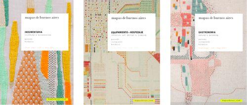Rita Smirna: Tapas bordadas para Mapas de Buenos Aires