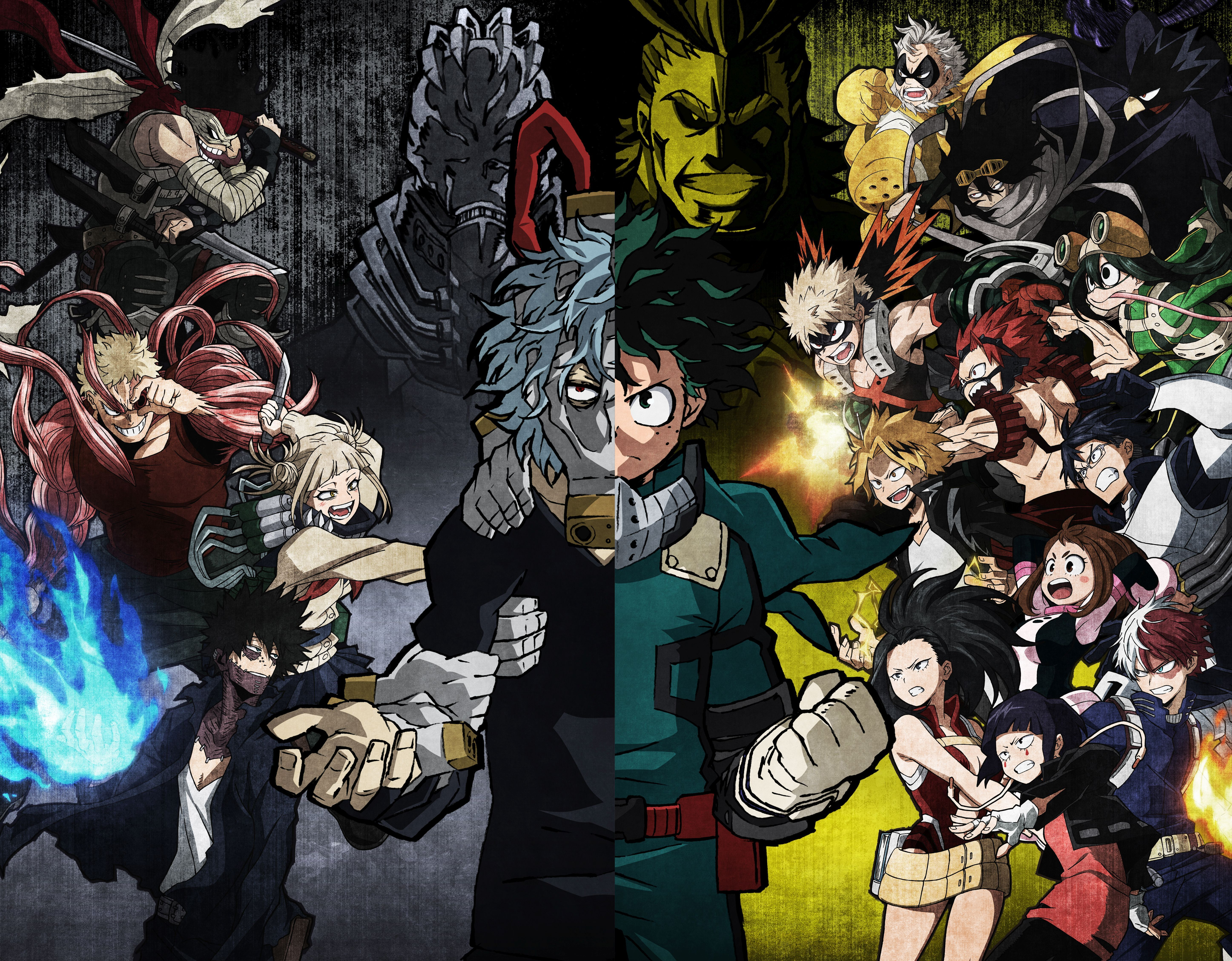 Anime My Hero Academia All For One Boku No Hero Academia All Might Dabi Boku No Hero Academia Denki Kaminari Eijiro Kirishima Anime Hero Wallpaper My Hero