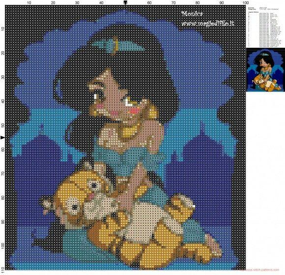 http://my-cross-stitch-patterns.com/little_jasmine_with_tiger_cross_stitch_pattern.html