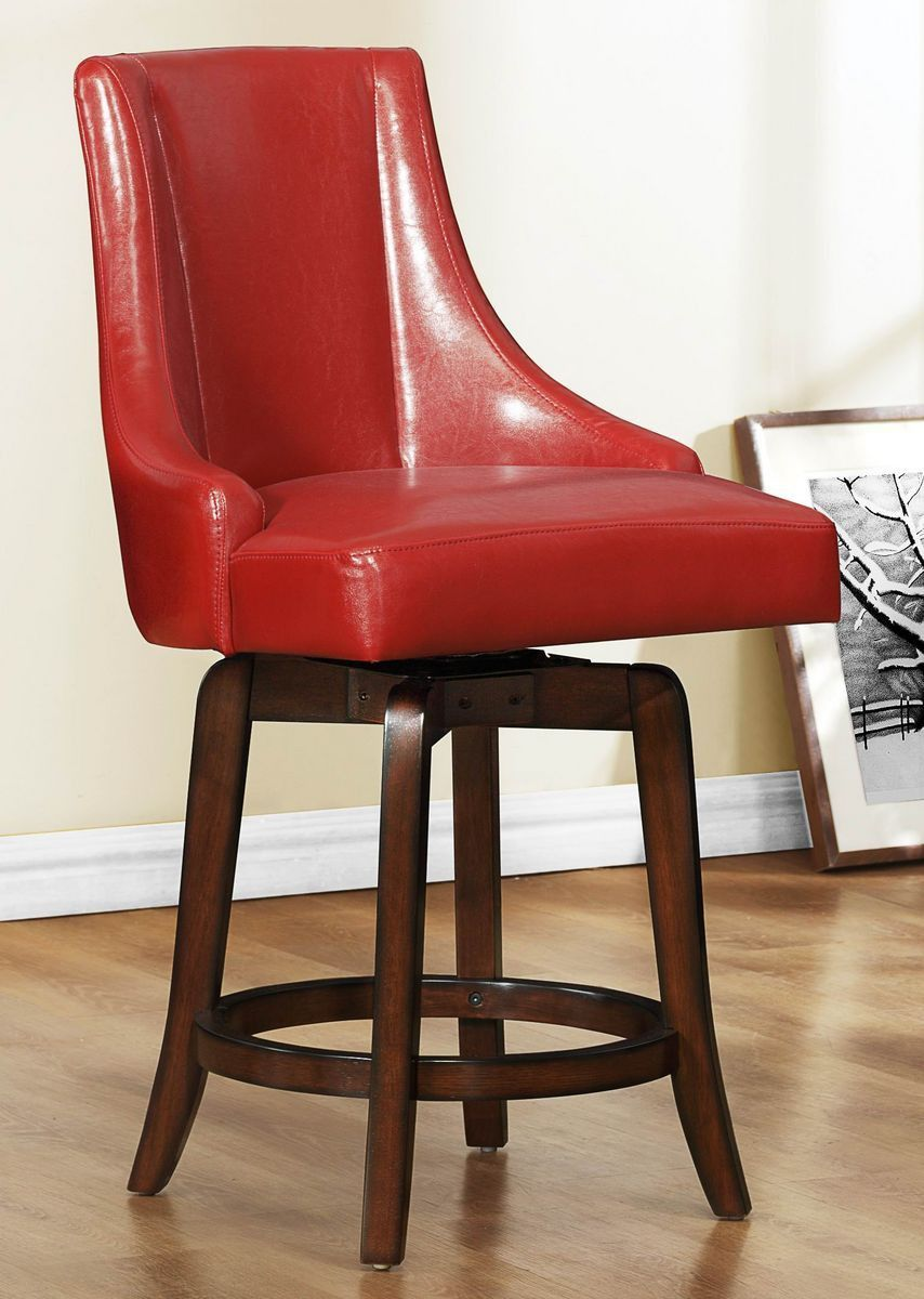 Delicieux Annabelle Collection Counter Height Chair Red 2479 24RDS Free Shipping
