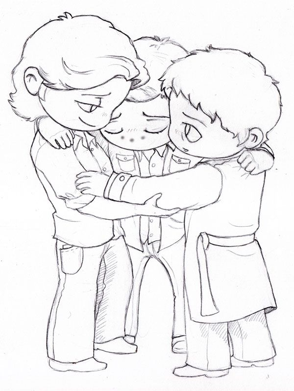 Sam Dean Cas Group Hug By Slashtastic On Deviantart Sam