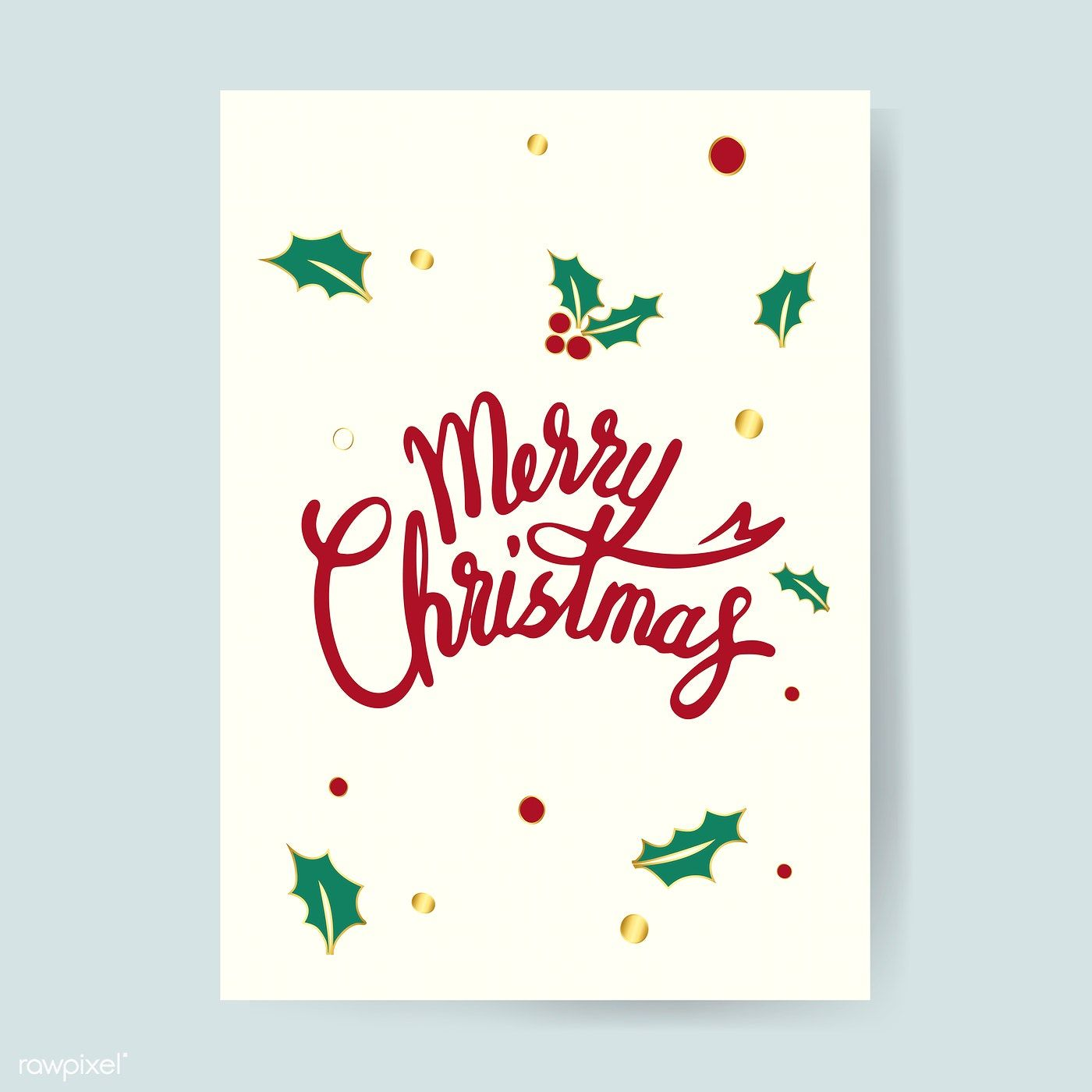 Merry Christmas Card Design Vector Free Image By Rawpixel Com Busbus Christmas Card Design Merry Christmas Card Design Creative Christmas Cards