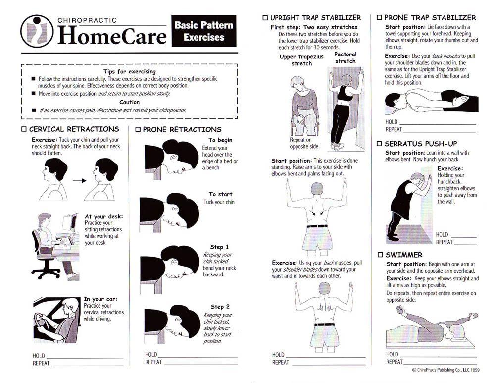 Stretches Cervical CStren2 Basic Pattern Exercises Yoga