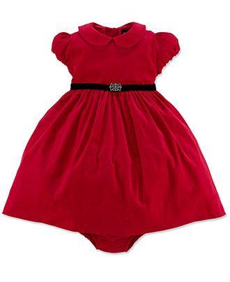 b2a322865fc0 Ralph Lauren Baby Girls Dress, Baby Girls Short-Sleeve Corduroy Dress -  Kids Baby Girl (0-24 months) - Macy's