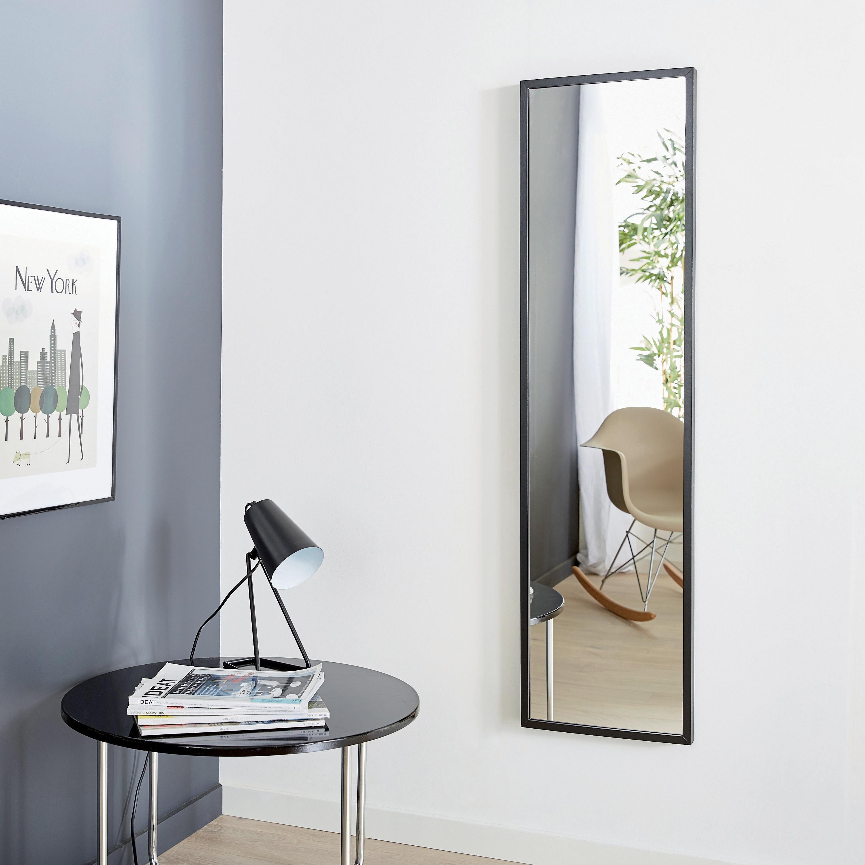 Specchio A Parete Rettangolare Milo Nero 30x120 Cm Inspire Prezzo Online Leroy Merlin Specchio Da Parete Specchi Parete