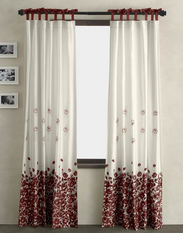 Dkny Wildflower Field Window Curtain Panel Crimson Large 633x803