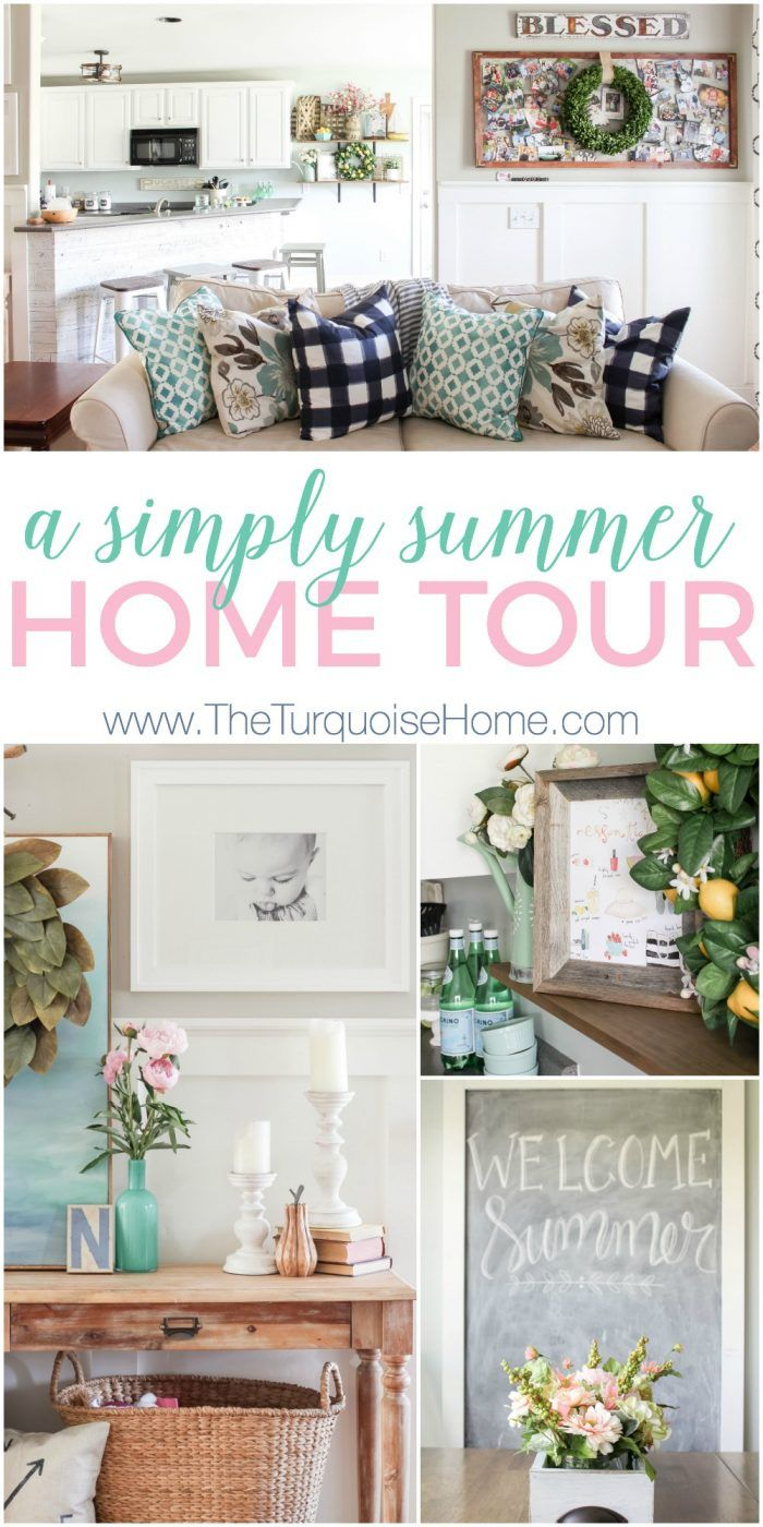 Simply gorgeous navy and turquoise in this summer home tour inspiration to create a home
