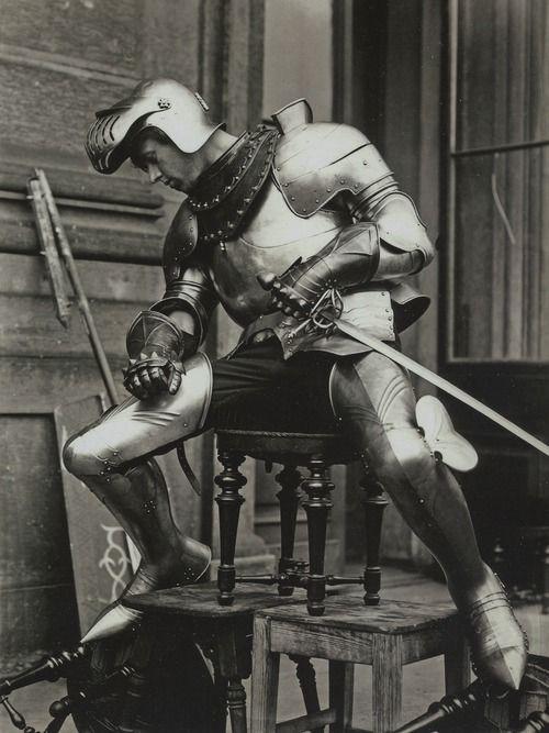 Model posing for Alphonse Mucha, Belle Epoque illustrator,1894