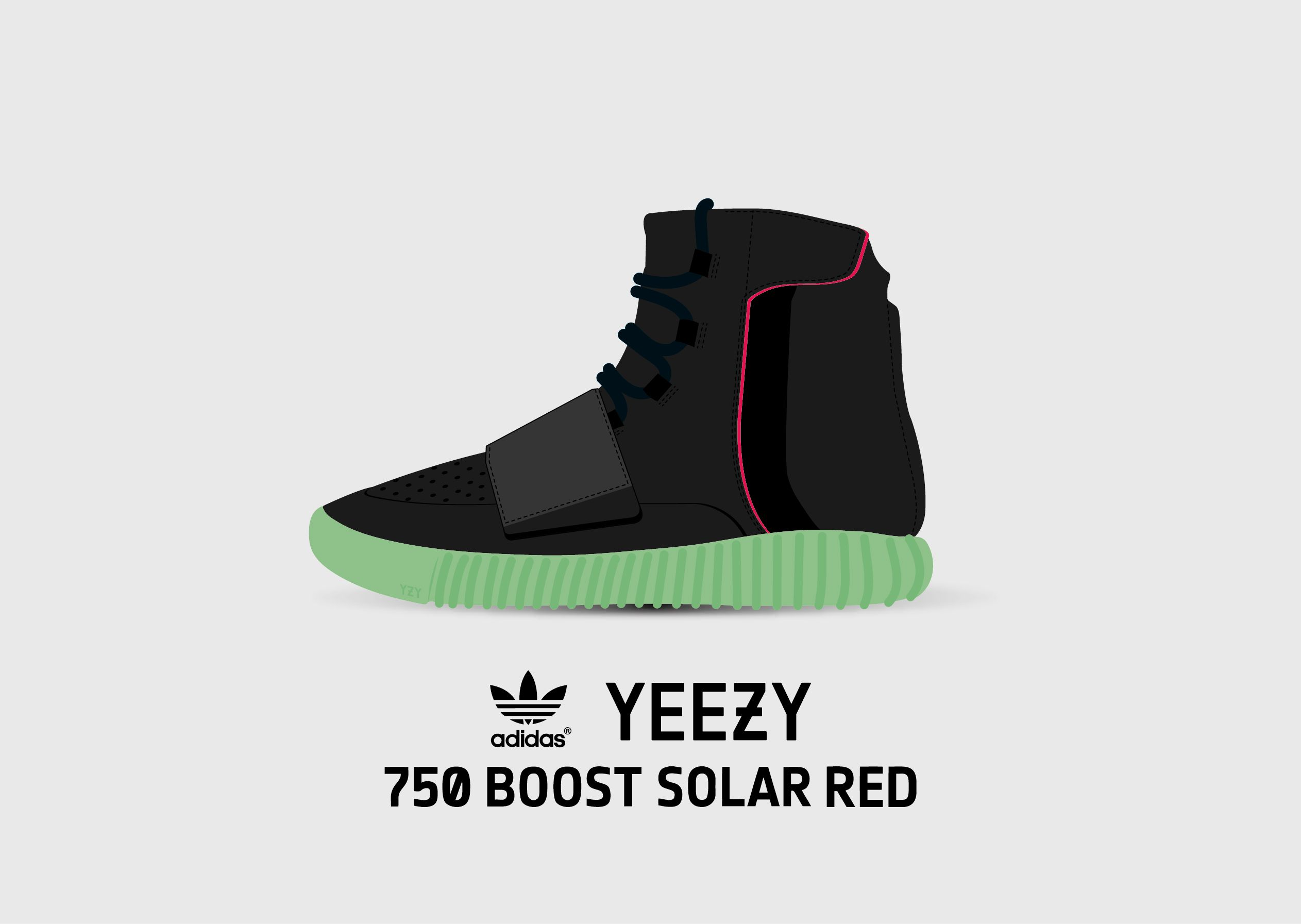 Adidas Yeezy 750 Boost Red