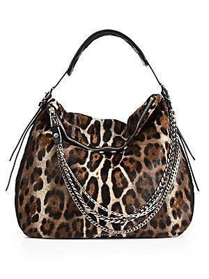 b682a1df47af Jimmy Choo Spotted Calf Hair & Leather Hobo animal print purse ...