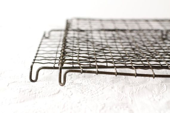 A Pair Of Large Vintage French Wire Cooling Racks Crinkle Cake