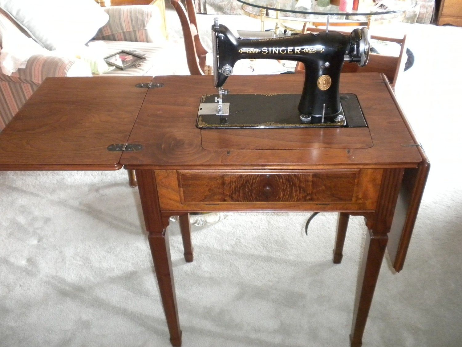 Vintage Singer 101 Sewing Machine and Cabinet Pick-up only shipping not  avaiable - Knee Pedal Sewing Machine Cabinet Bath Vanity - Google Search
