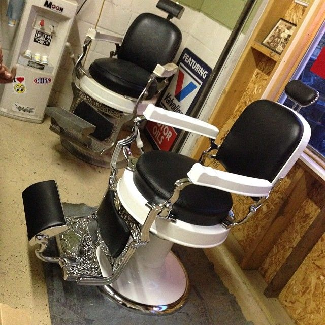 Antique Barber Chairs and Parts - Single Round Who's Next ? (Barber Chairs)  Pinterest - Antique Koken Barber Chair Parts Antique Furniture