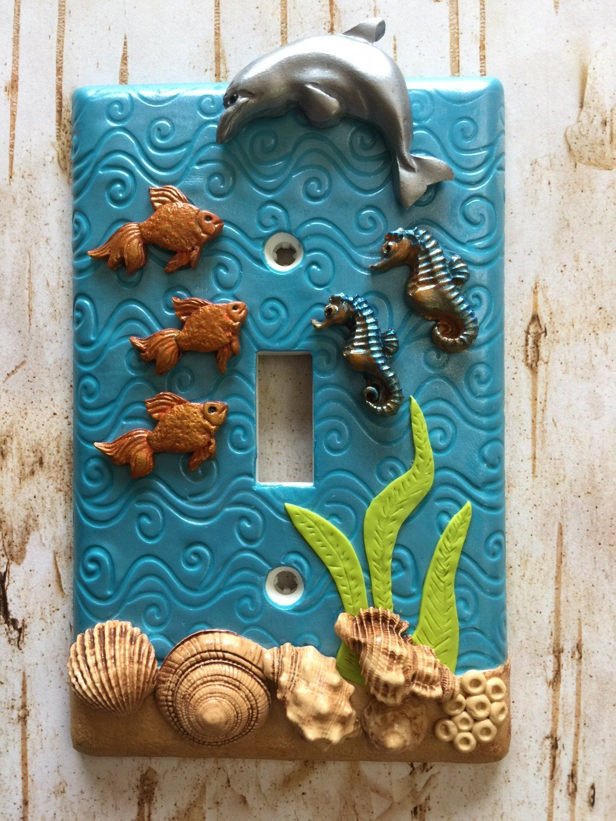 Handmade Light Switch Plate or Outlet Cover Sculpture 3D