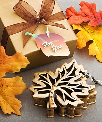 Autumn Allure Collection fall leaf box favors