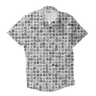 35a774c14 Pokemon Yellow Sprites Short-Sleeve Button Down Shirt   Button ...