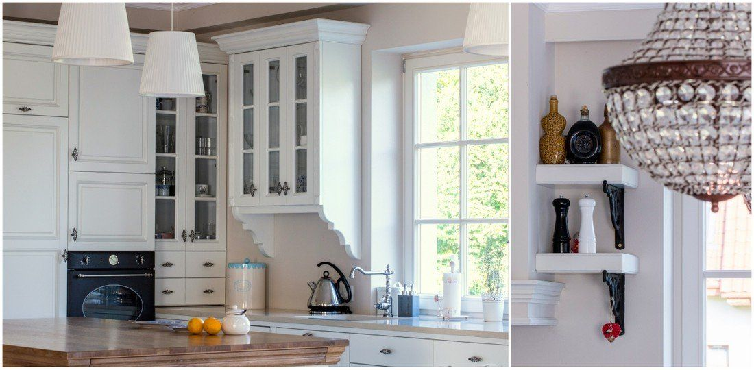 Kuchnia W Stylu Rustykalnym Dwa Blaty Kuchenne Kazdy Wykonany Z Innego Materialu Dab I Konglomerat Rustic Kitchen Two Home Home Decor Kitchen Cabinets