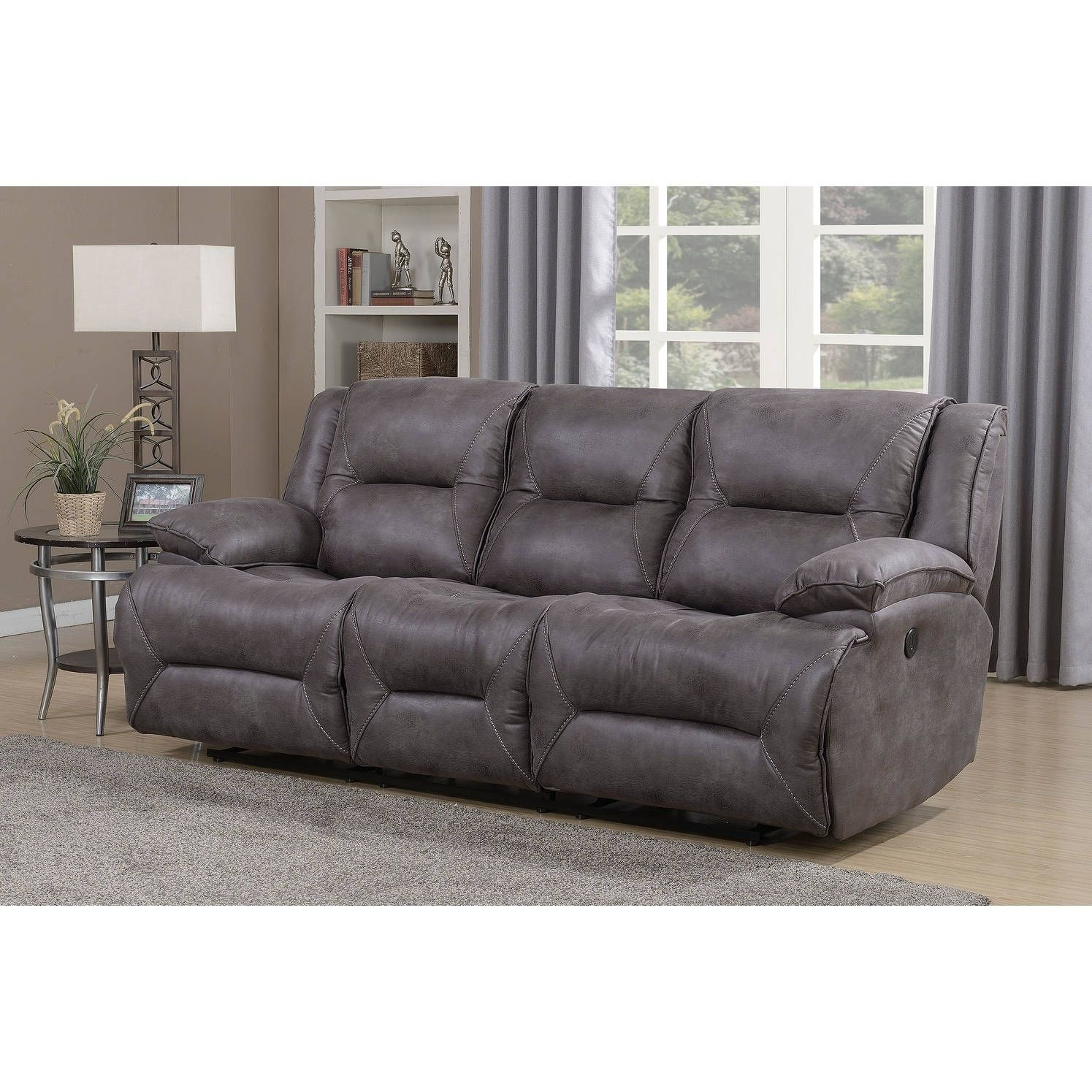 Astonishing Dylan Dual Power Reclining Sofa With Memory Foam Seat Dailytribune Chair Design For Home Dailytribuneorg