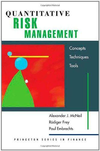 Book Quantitative Risk Management Concepts Techniques And Tools - quantitative risk analysis