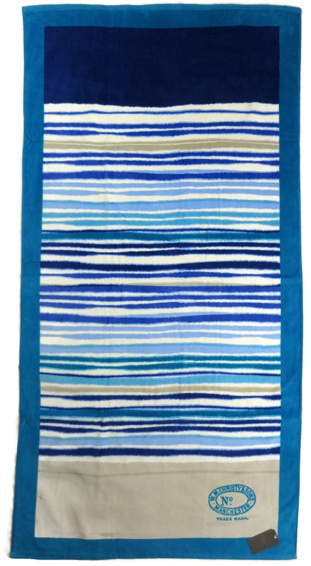 The Colors On This Towel Make Me Think Of Sand And Sea Beach Christy Haven Stripe Deep Blue Teal