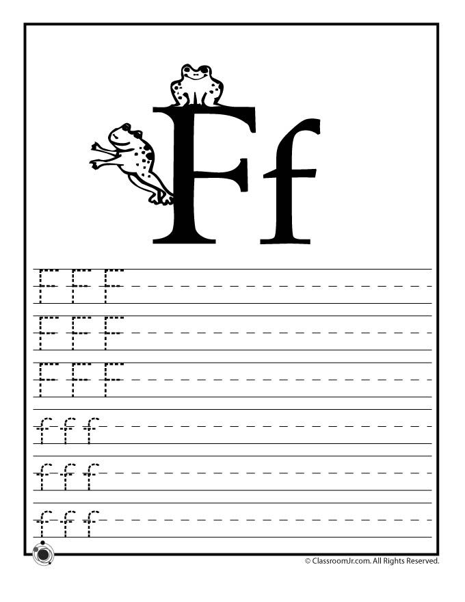 Learning ABC's Worksheets Learn Letter F – Classroom Jr ...