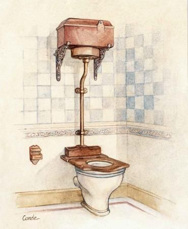 'vintage toilet i' art print - conde   art   vintage