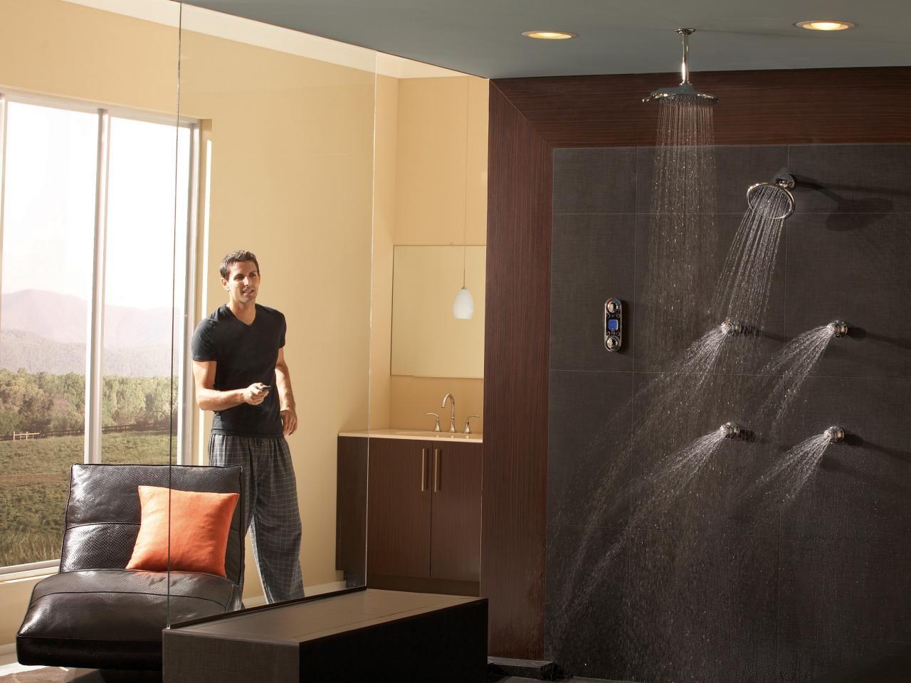 Bathroom Shower Designs | Shower panels, Dream shower and Hgtv