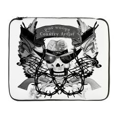 """Don Woods logo 17"""" Laptop Sleeve > Don Woods Country Artist > Twilight Years Creative Art T-Shirts and Gifts"""