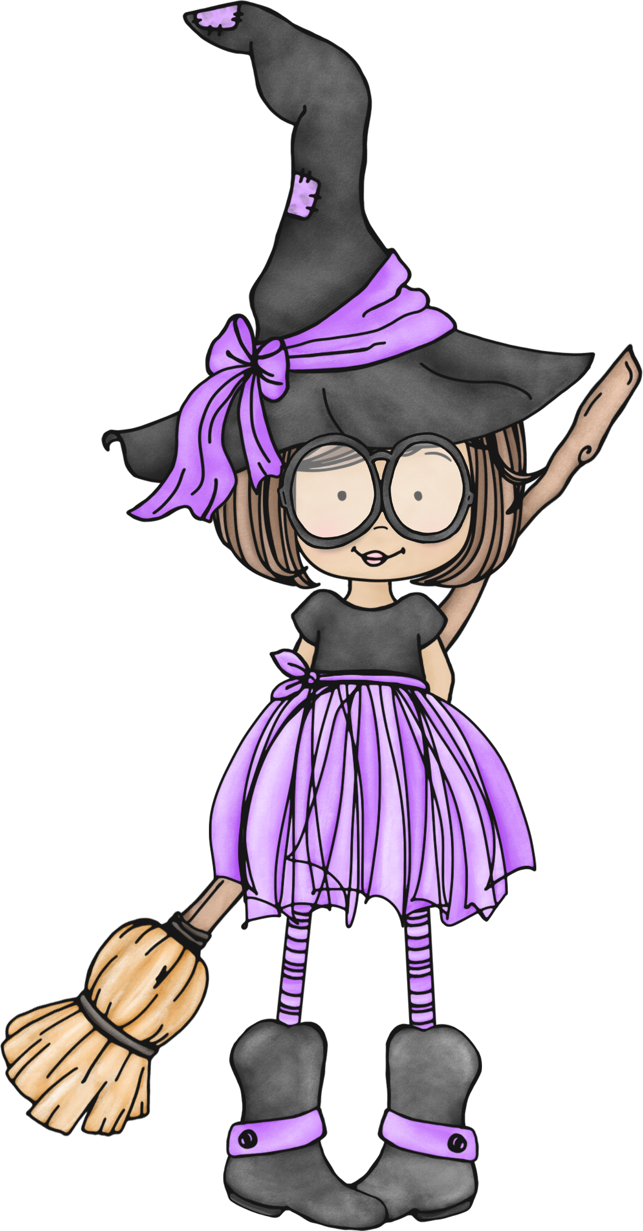 witch quenalbertini cute little witch with glasses [ 1302 x 2492 Pixel ]