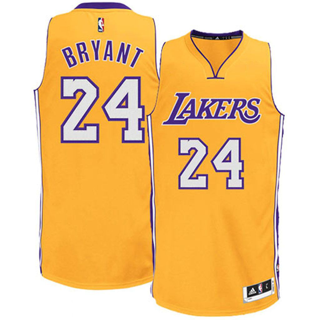 6a35ab49b89 adidas Kobe Bryant Los Angeles Lakers Revolution 30 Swingman Performance  Jersey-Gold Kobe Bryant Number