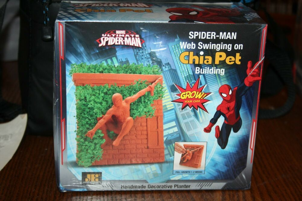Chia Pet Wall Swinging Spiderman New In Box Chia Pet Spiderman Pets