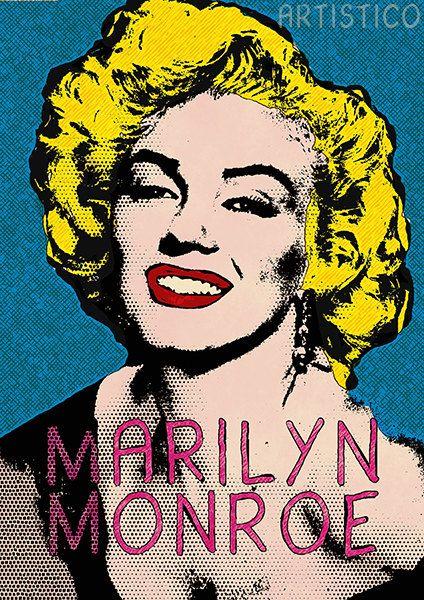 Comic Poster Print Marilyn Monroe Pop Art Canvas Wall Decor Giclee Large Print 30 00 Via Etsy Pop Art Marilyn Marilyn Monroe Pop Art Comic Poster