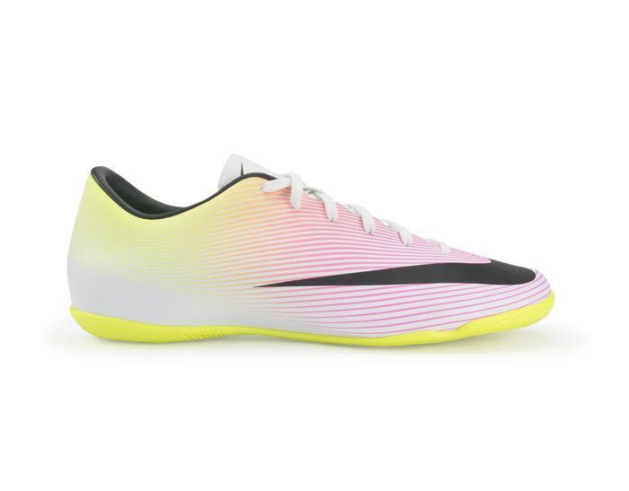 Nike Men S Mercurial Victory V Indoor Soccer Shoes White Black Volt Soccer Shoes Indoor Soccer Shoes Indoor Soccer Cleats