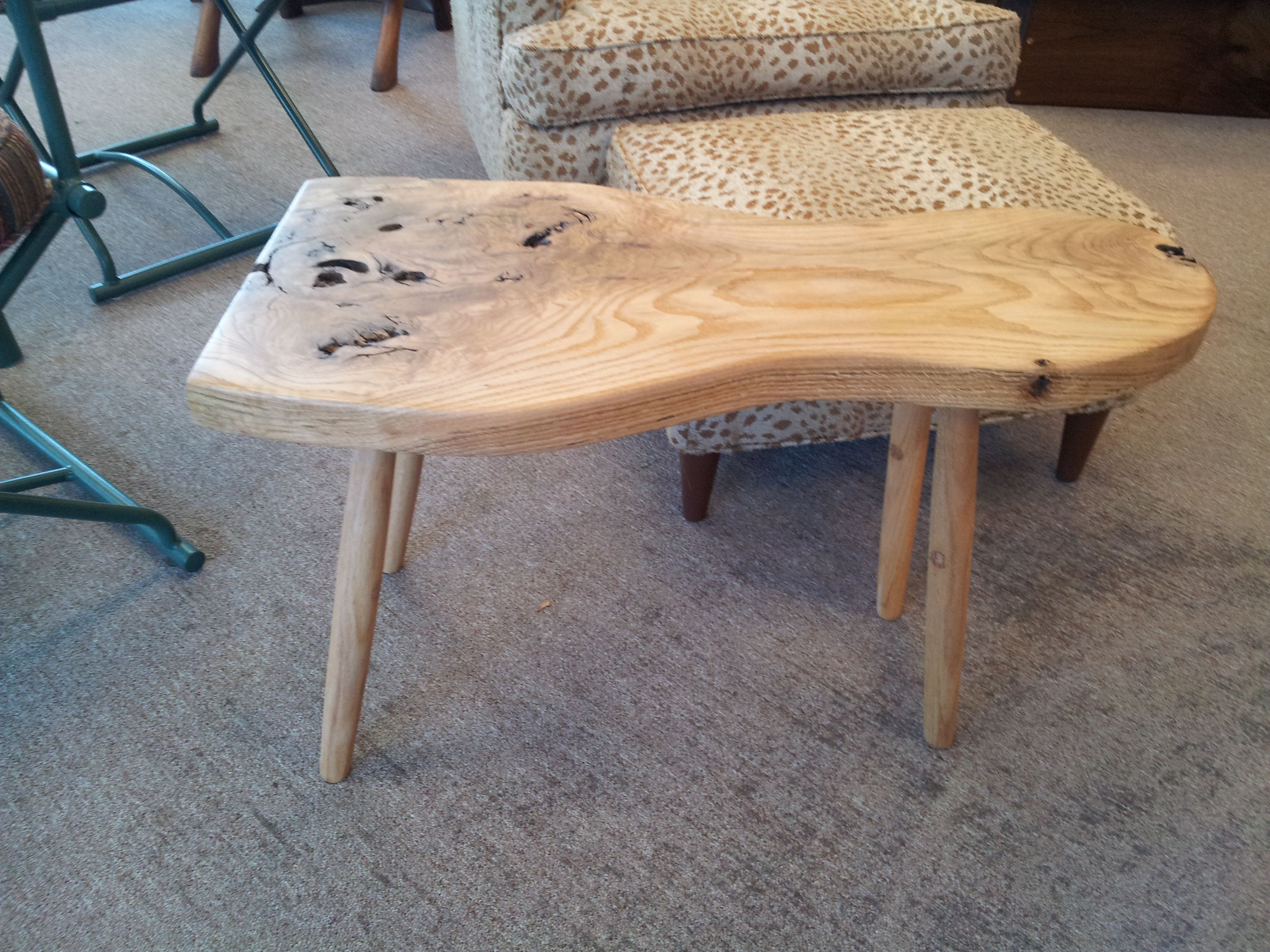 "Burr Oak side table called ""The Ant"""