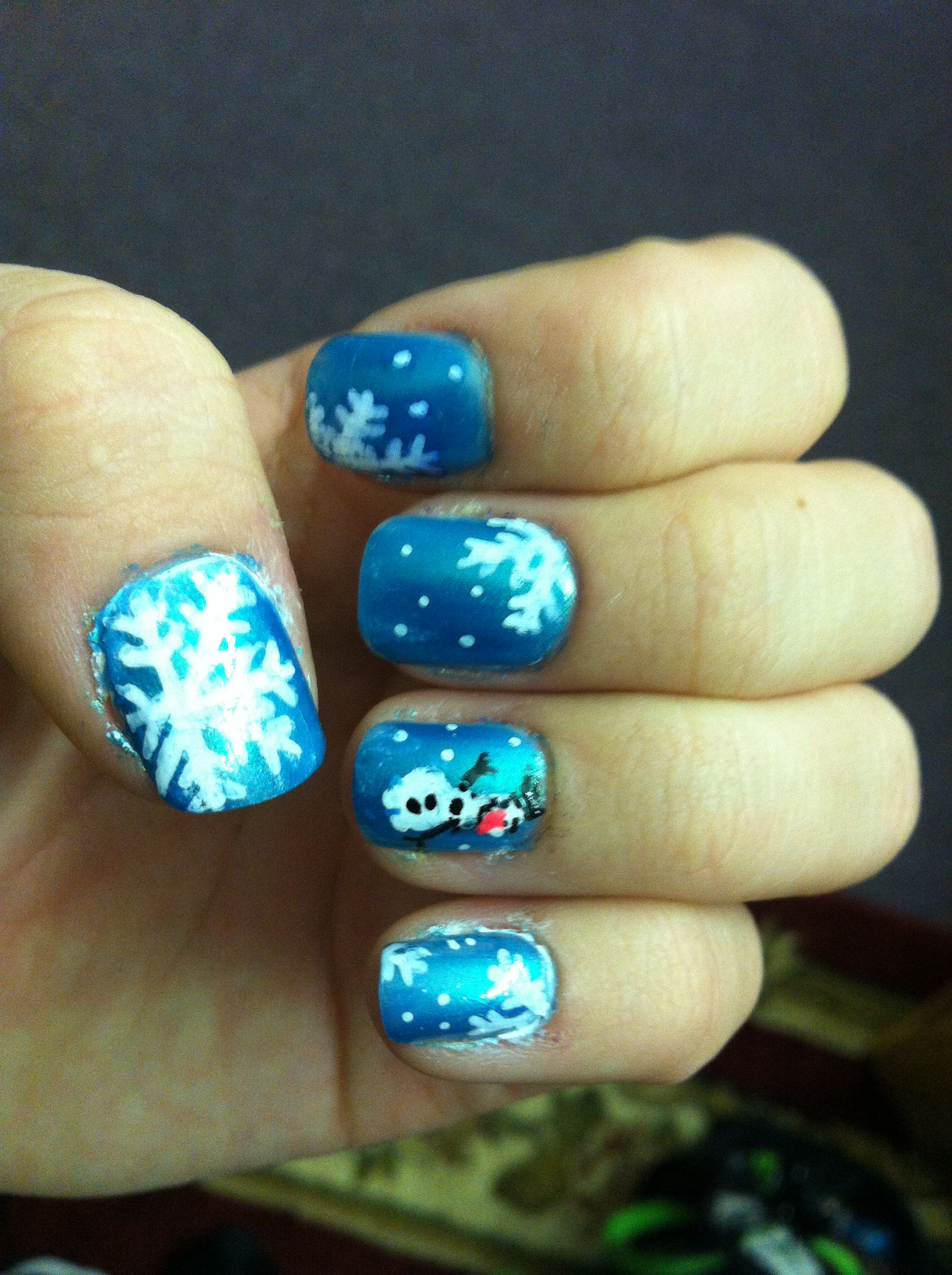 Frozen themed nails!! | Nail Designs | Pinterest
