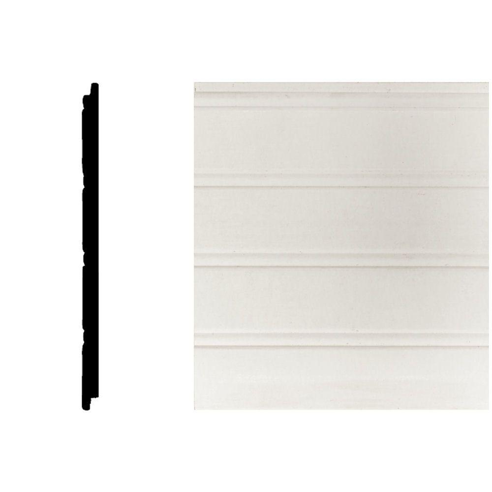 House Of Fara 5 16 In X 5 29 32 In X 32 In Mdf Tongue And Groove Wainscot 1 Piece White Wainscoting Panels Wainscoting Faux Wainscoting