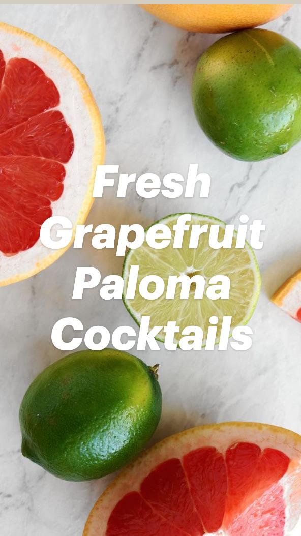 Fresh Grapefruit Paloma Cocktails