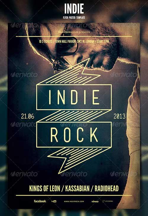 Top 50 Alternative Indie Rock Top And New Indie Rock Flyer Templates