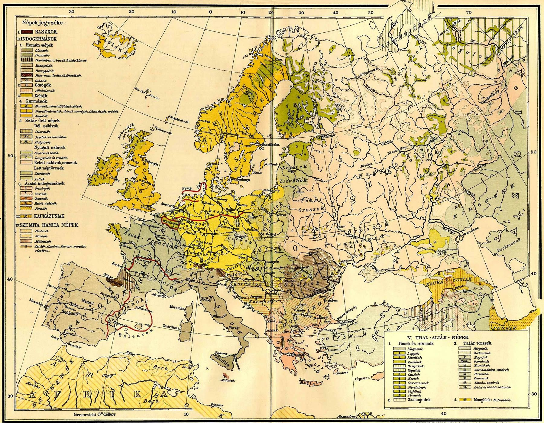 A hungarian ethnic map of Europe 1897 [1800x1399] | Human Geography ...