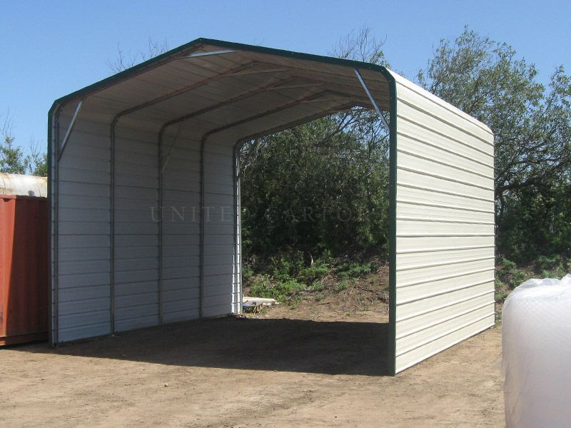This is our standard style carport with both sides