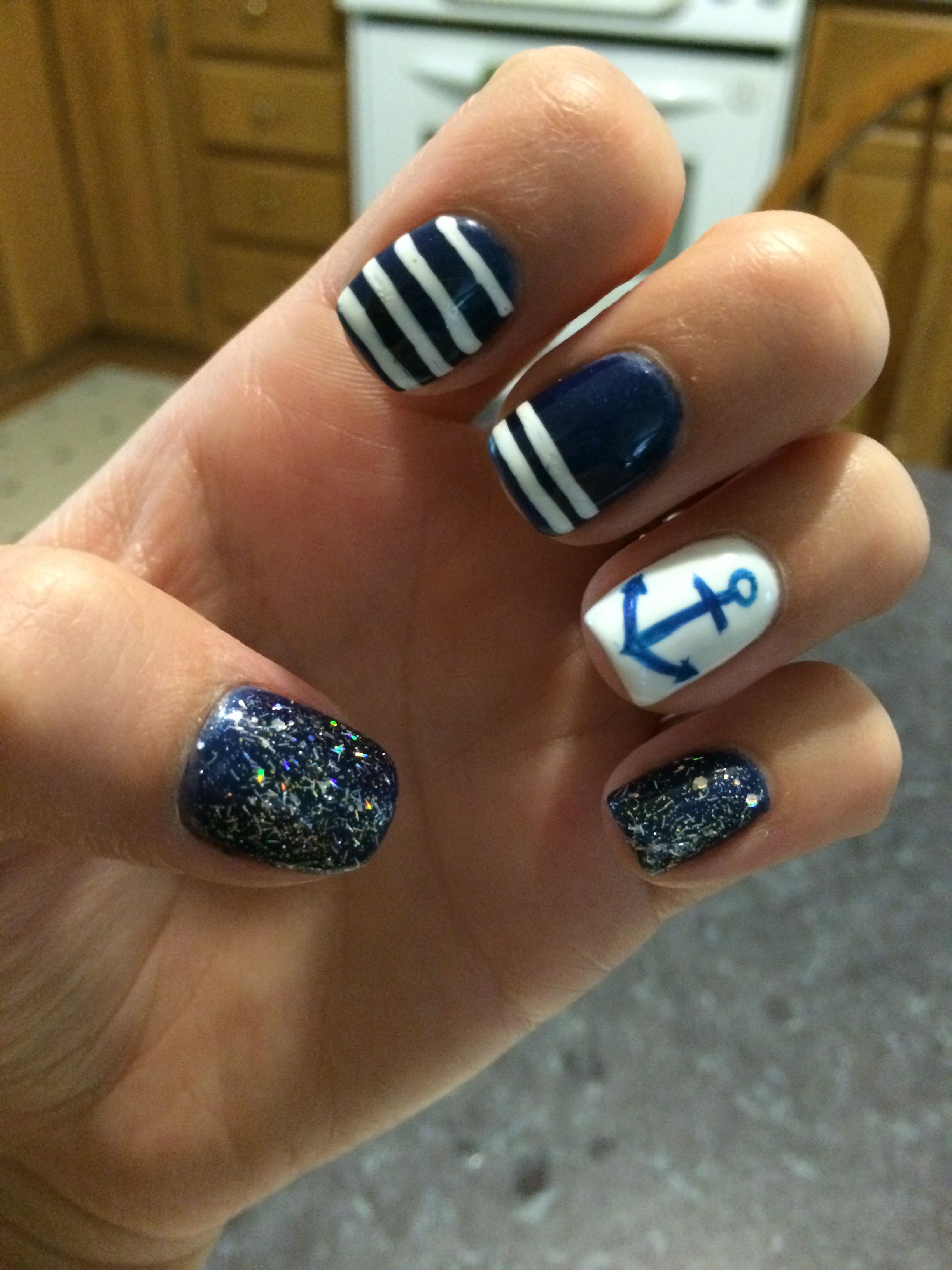 Copied from Pinterest onto my own nails :)