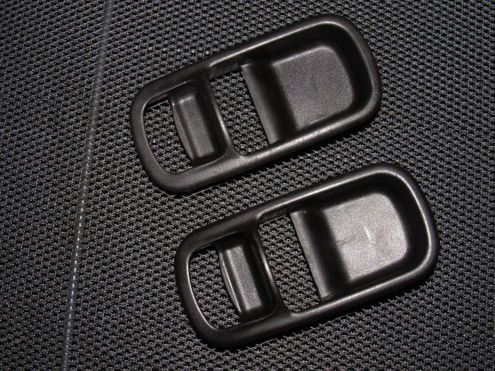 89 90 91 92 93 94 nissan 240sx oem interior handle bezel trim  89 90 91 92 93 94 nissan 240sx oem interior handle bezel trim black