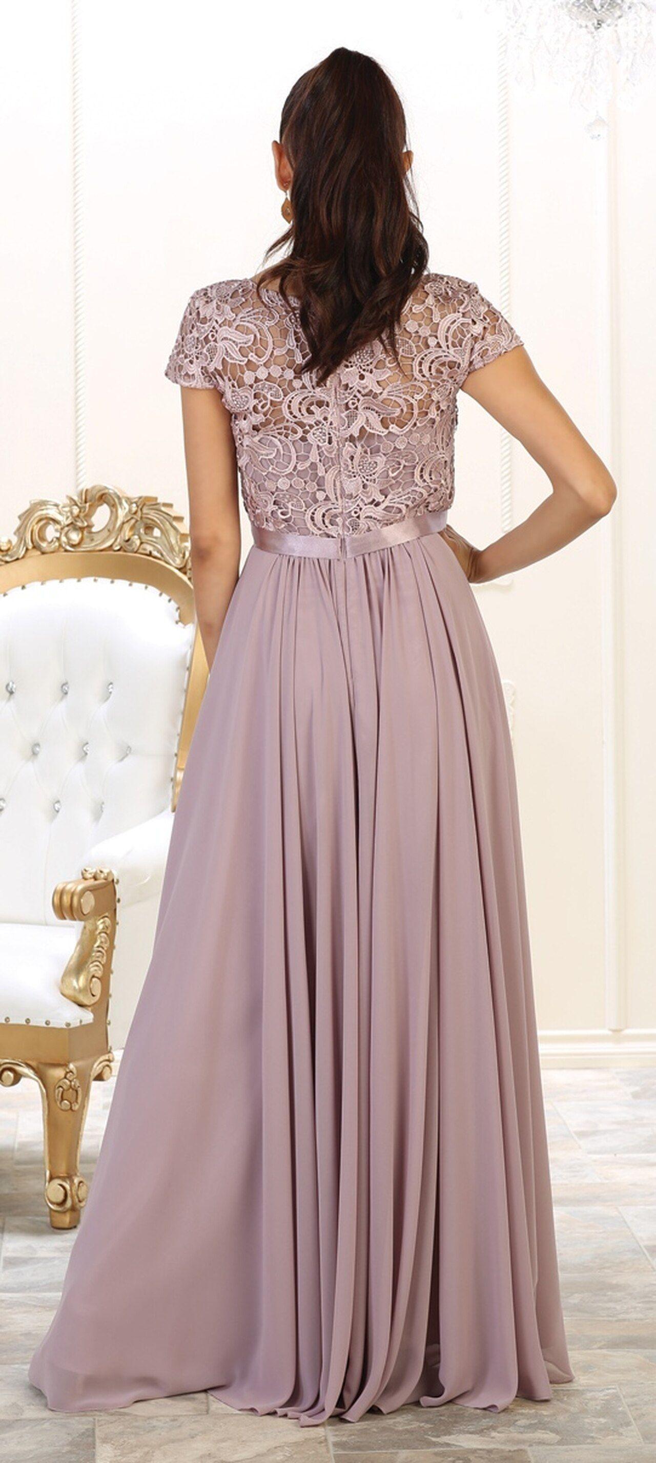 Mq1486 Mother S Formal Modest Long Dresses Bridesmaid Dresses Plus Size Classy Dress [ 2856 x 1280 Pixel ]