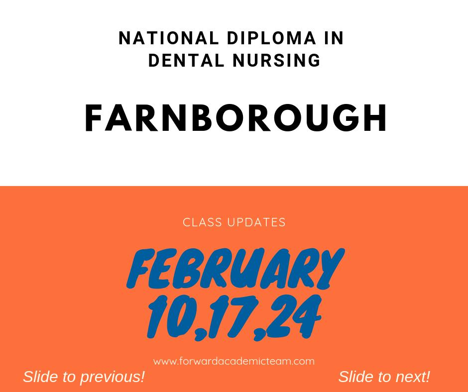 Study Dental Nursing Course In Farnborough. New Classes