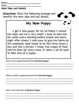MAIN IDEA PASSAGES - TeachersPayTeachers.com