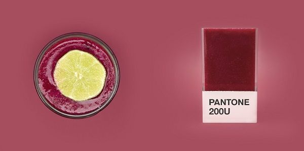 Pantone-Paired Smoothies : colorful smoothie