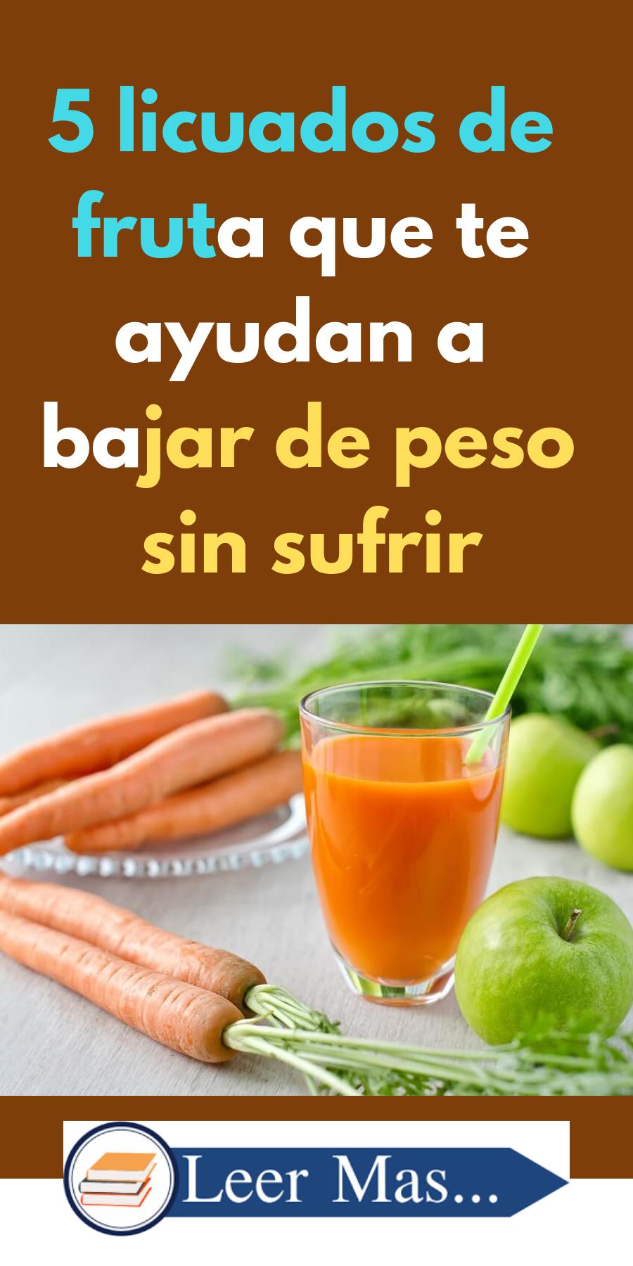 5 Licuados De Fruta Que Te Ayudan A Bajar De Peso Sin Sufrir Licuados De Frutas Recetas De Licuados De Frutas Bebida Para Quemar Grasa