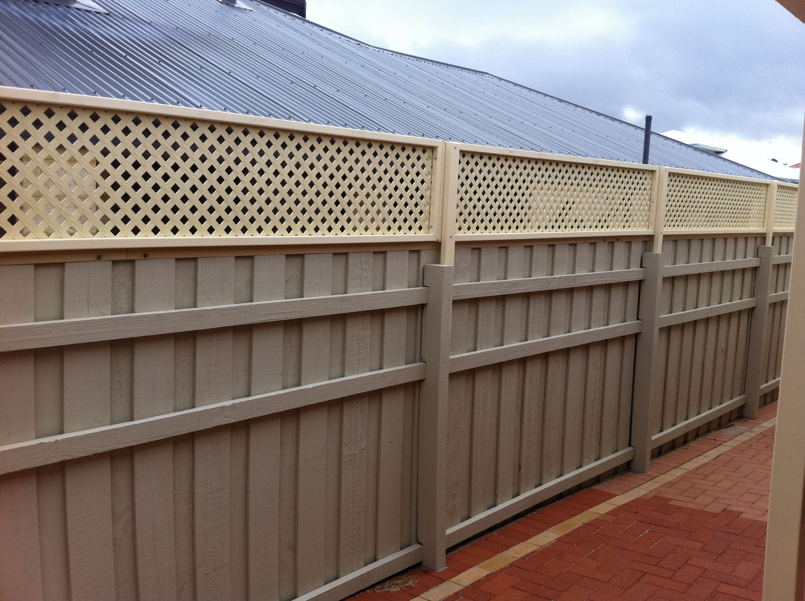 Fence Extensions Perth Lattice Fence Extension Perth Backyard Fences Backyard Privacy Lattice Fence