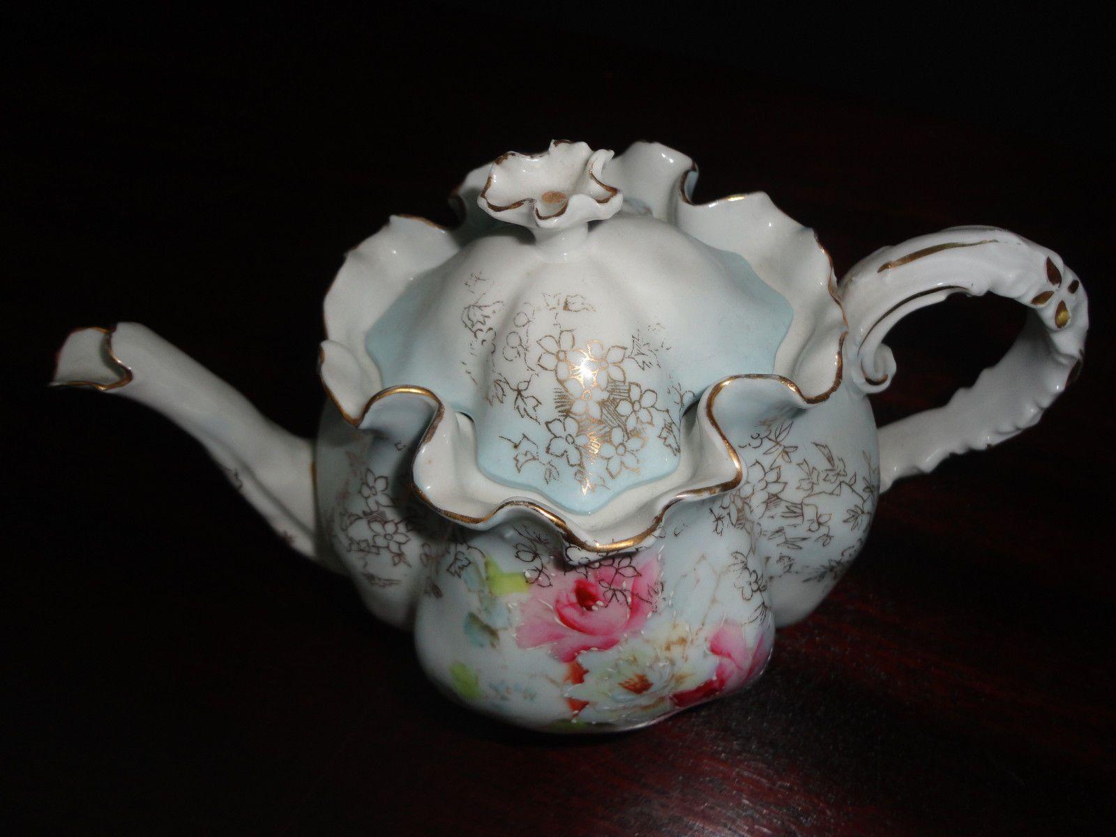 Beautiful Antique RS Prussia Porcelain Teapot OM 13 | eBay